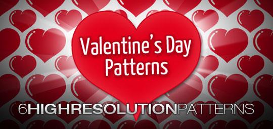 6 Free Photoshop Valentine Pattern by Gabriele Malaspina