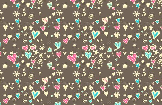 Happy Hearts Photoshop Pattern by Luna Rosa