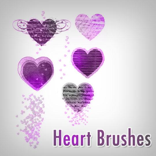 7 Free Valentine Heart Brushes by ShadyMedusa